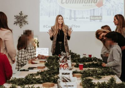 CHRISTMAS COMMAND WORKSHOP WITH INFLUENCERS