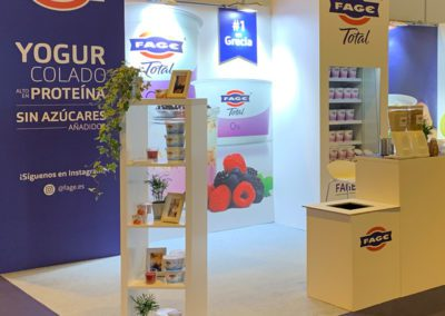 FAGE STAND AT THE GYM FACTORY